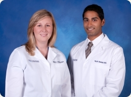 Jenny Andrus MD and Raj Sureja MD of OSC pain management team