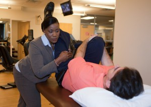 bursitis being treated with physical therapy