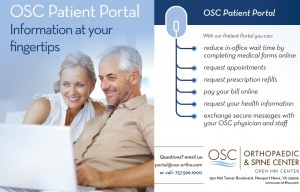 Patient Portal showing a man and woman at a computer