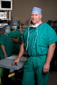 Image of Dr. Jeffrey Carlson in the OR
