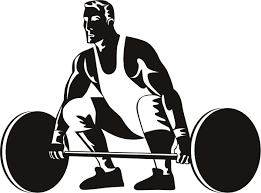 Cartoon image of a weightlifter