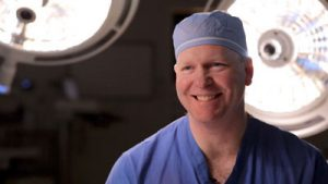 Dr. Carlson in the operating room