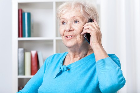 Senior lady talking on the phone