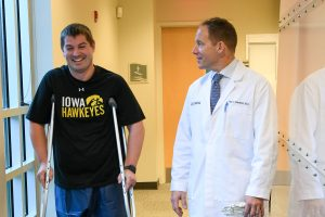 Dr. Joel Stewart & patient