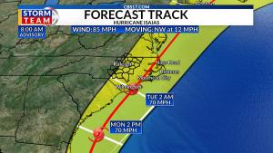 Track of Hurricane Isaias